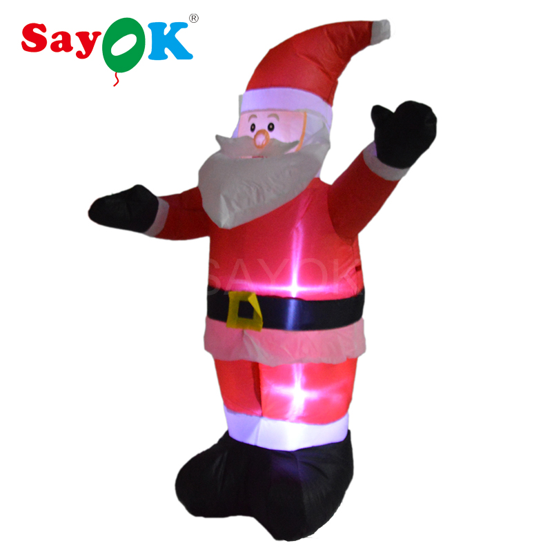 Ft christmas inflatable santa claus with lightings air
