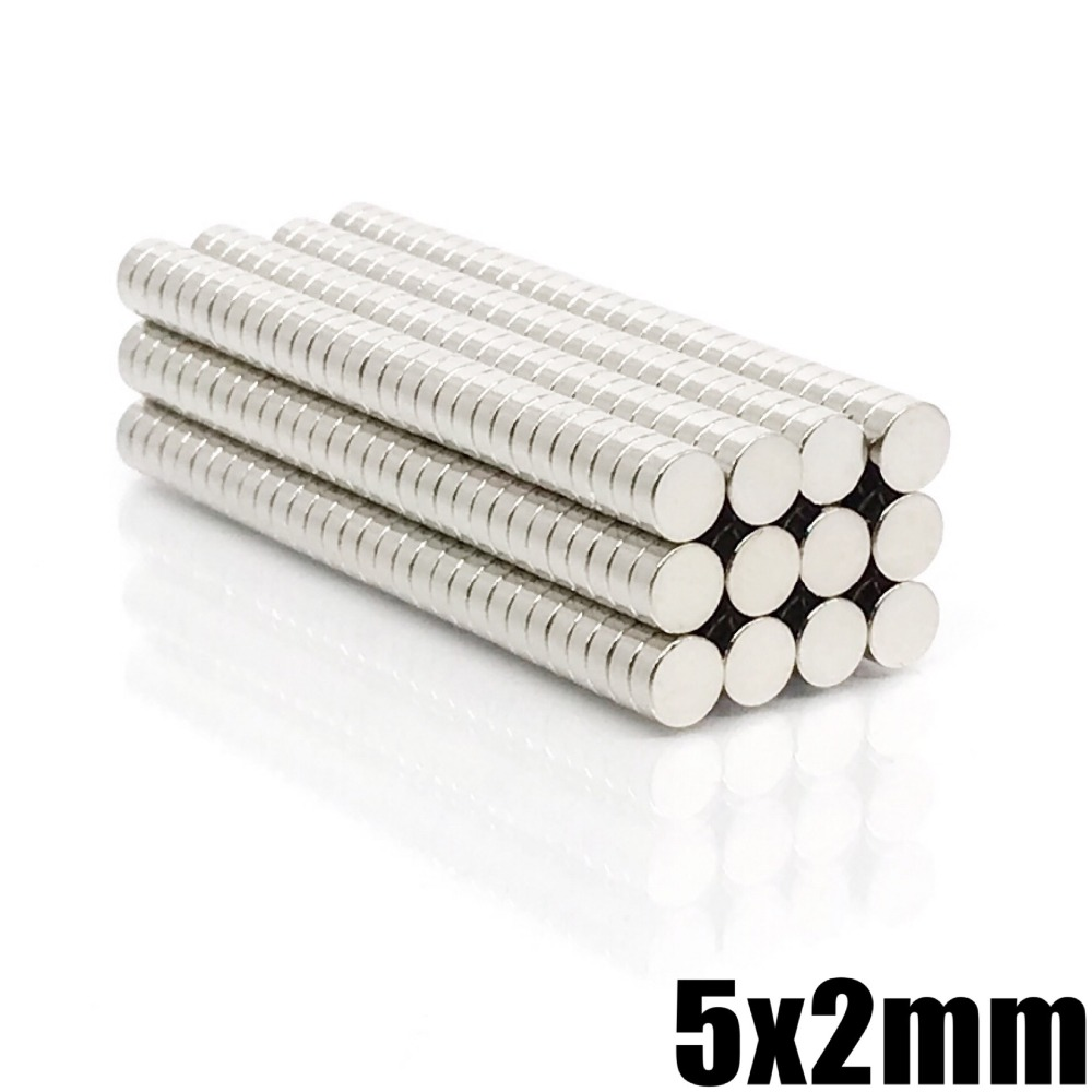 20/50/100/200Pcs 5x2 Neodymium Magnet 5mm X 2mm N35 NdFeB Permanent Small Round Super Powerful Strong Magnetic Magnets Disc 5*2