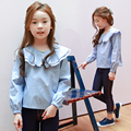 Autumn New Arrival Kids Girls Long-sleeve T-shirt, Stripe Girls Top, Children's Clothes