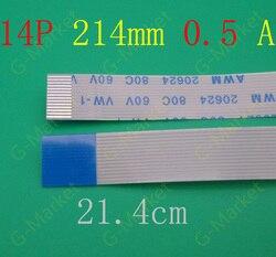 5-100 sztuk nowy FFC FPC płaskie elastyczne kabel 0.5mm 14 pin do przodu długość 214mm wstążka 14pin Flex Cable 20624 80c 60 v vw-1
