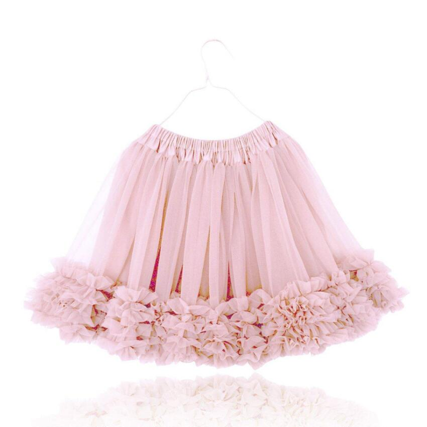 1 7 Year Baby Girls Tutu Skirts 2018 Fluffy New Spring Summer Kids Skirts for Party Ballet Dance Perform Wedding Wear Children