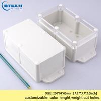 Montagem na parede caixa de plástico projeto ABS caixa de junção à prova d' água caixa do instrumento caixa de plástico DIY transparen IP68 200*94 * 66mm