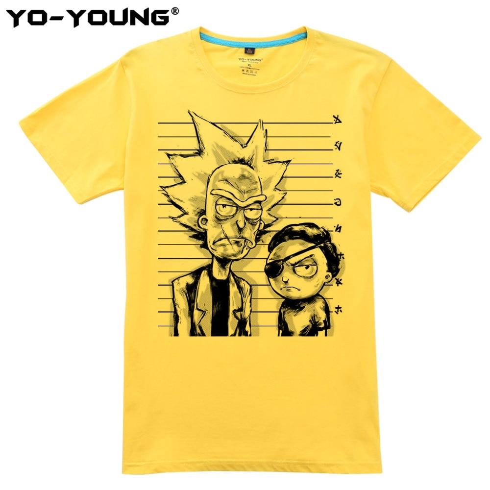 Yo-Young Rick Og Morty Bad Rick Men Premium T-shirts Roligt Design - Herretøj - Foto 3