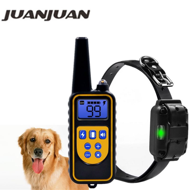 800yd <font><b>Electric</b></font> <font><b>remote</b></font> <font><b>Dog</b></font> <font><b>Training</b></font> <font><b>Collar</b></font> Waterproof Rechargeable with LCD Display for All Size beep Shock Vibration mode 40%off image