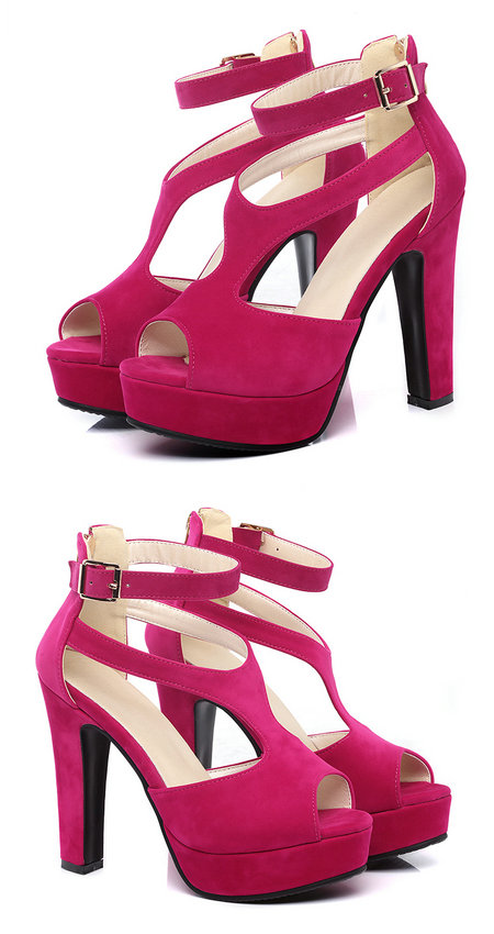 QUTAA 2017 Women Pumps Summer Black Ladies Shoe Square High Heel Peep Toe PU Leather Zipper Woman Wedding Shoes Size 34-43 7