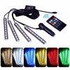 4pcs RGB LED Strip Car Light 9LED Strip Lights 7 Colors Car Styling Decorative Atmosphere Lamps
