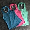 Mujeres de entrenamiento fitness sport tank top regata feminina mujeres yoga blusa sin mangas camisa rosa backless atractivo smock tops para mujer