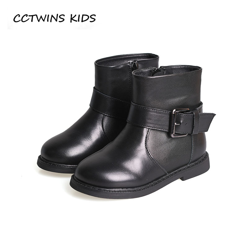 CCTWINS KIDS 2018 Winter Children Fashion Boot Baby Boy Genuine Leather Shoe Girl Brand Warm Ankle Boot Toddler CF1530