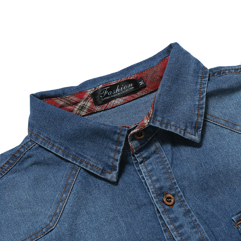 525ab3ae Double Pocket Black Denim Shirt Men 2018 Brand New Slim Long Sleeve Jeans  Shirt Male Casual Work Easy Fit Camisa Jeans Masculina-in Casual Shirts  from Men's ...