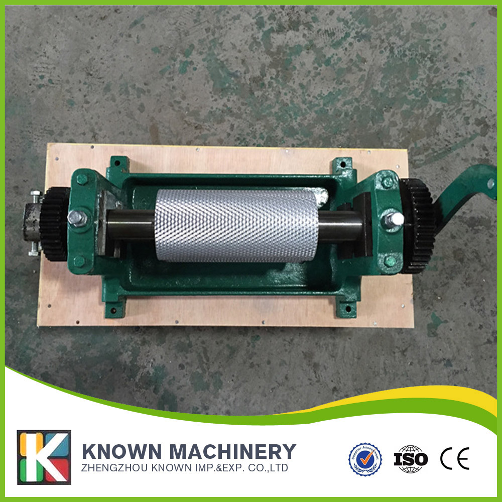 310*74mm hand crank / manual Beeswax comb foundation sheet roller mill machine 5.0mm