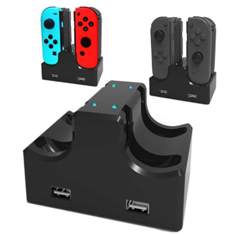 4 Slot Charging Charger Stand Dock Station Indicater For Nintend Switch For NS Joy-Con Controller Stand Charging Holder