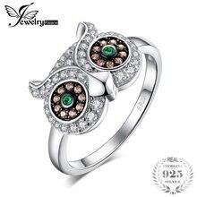 b08525abaffd JewelryPalace Nano России искусственный изумруд сова кольцо 925 пробы  серебро Мода Дизайн бренд ювелирных украшений для
