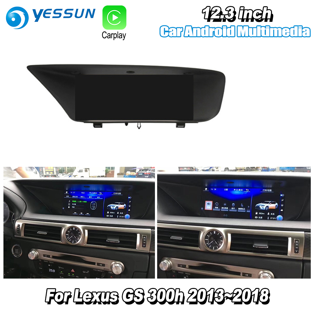 YESSUN 10.25 For Lexus GS 300h 2013~2018 Car Android Carplay GPS Navi maps Navigation Player Radio Stereo Bluetooth WiFi no DVD yessun for lexus al20 rx 300 rx 200t rx 450h 2015 2018 car android carplay gps navi maps navigation player radio stereo no dvd