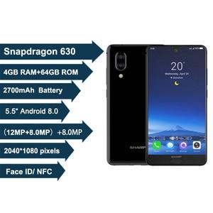 Image 2 - SHARP AQUOS C10 S2 Android 8.0 4GB + 64GB 5.5 FHD + SmartPhone Snapdragon 630 Octa Core Face ID NFC 12MP 2700mAh 4G téléphone portable
