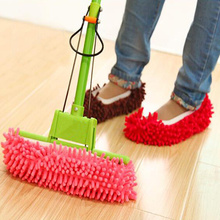 2pcs Dust Cleaner Grazing Slippers House Bathroom Floor Cleaning Mop Cleaner Slipper Lazy Shoes Cover Microfiber Hot Selling