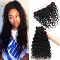 Ear to Ear Lace Frontal Closure With Bundles 3 or 4 Bundles Cheap  Brazilian Virgin Human Hair Water Wave With Closure