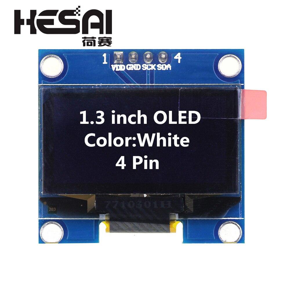 1,3 Pulgadas Módulo OLED Color Blanco 128X64 OLED Pantalla LCD Pantalla De LED Del Módulo De 1,3 La CII I2C Comunicación SPI Para Arduino Diy Kit