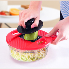 Vegetable Cutter Kitchen Accessories 6in1 Potato Slicer Grater Shredder Multi-Function Chopper Home Cocina Accesorio Manual Tool
