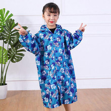 все цены на Raincoat for Children Cartoon Kids Girls Rainproof Rain Coat Waterproof Poncho Boys Rainwear Kindergarten Baby Rainsuit онлайн