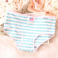 [Quecoo] 2016 Girl Series striped cotton underwear women trade XL XL waist sexy underwear women's Panties