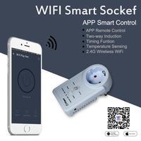 WiFi Smart Socket Smart Plug App Control Timing Function Temperature Control Sensor Temperature Remote Control