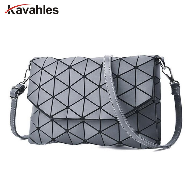 Women Plaid Laser Bag Geometric Shoulder Bags Casual Mini Clutch Bao Bao Makeup Crossbody Bags for Women Messenger Bag PP-801 dvodvo women handbag baobao bag female folded geometric plaid bag bao bao fashion casual tote women handbag mochila shoulder bag