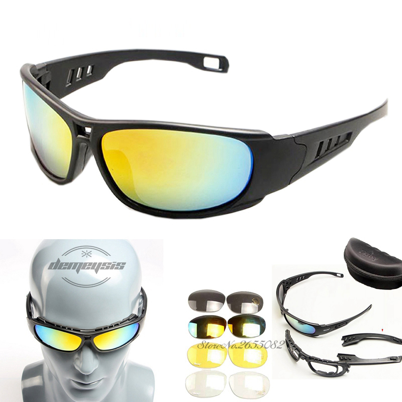 Army Goggles Sunglasses Men Military C6 C5 Glasses Male 4 Lens Kit For Men's War Game Tactical Glasses Outdoor
