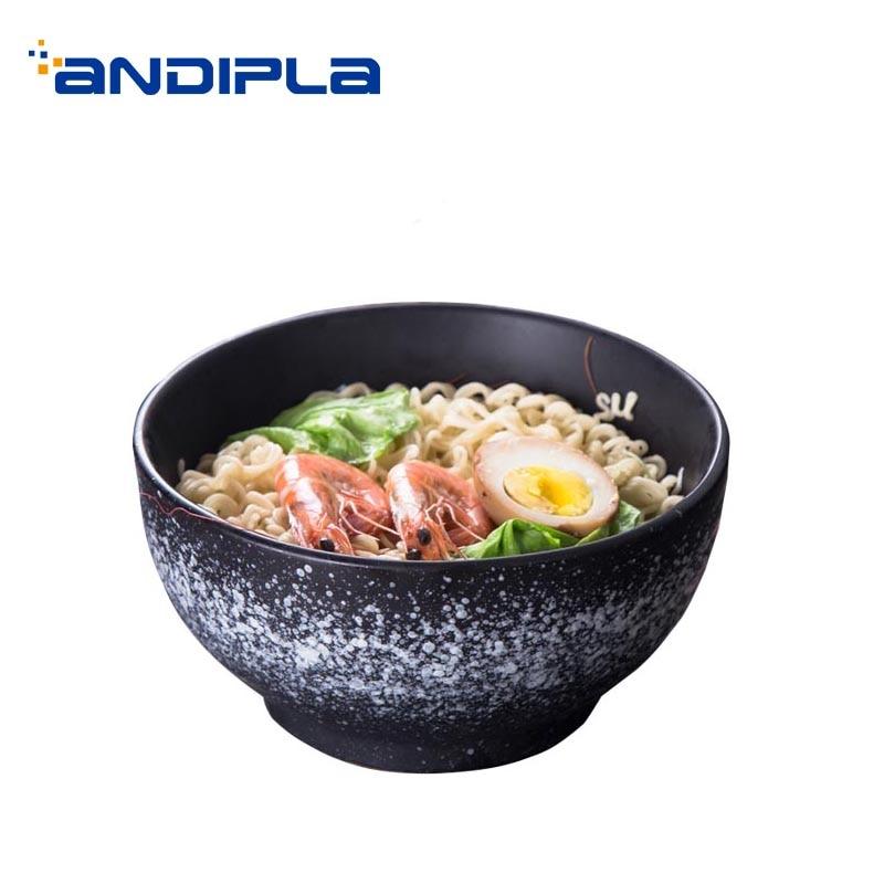 Japanese Style Vintage Soup Rice Bowl Hand Pulled Noodle Big Bowl Dessert Salad Holder / Home Kitchen Tableware Dinnerware Decor