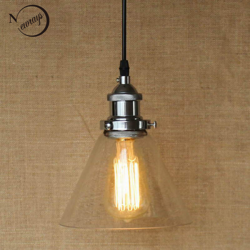 цена Hanging clear glass shade Pendant Lamp with Edison Light bulb|Kitchen Lights and Cabinet Lights
