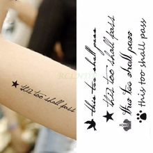 Waterproof Temporary Tattoo Sticker sexy waist English letters bleeding love tatto flash tatoo fake tattoos for girl women 4
