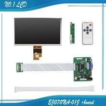 Buy online 7.0 Inch 40pins 1024(RGB)*600 TFT EJ070NA-01J LCD Screen Display With Remote Driver Control Board 2AV HDMI VGA for Raspberry Pi