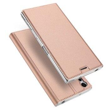 Перейти на Алиэкспресс и купить Магнитный чехол-книжка с откидной крышкой для Sony Xperia XA1 Plus Ultra XZ1 XZ2 Premium XZ X Compact XP Z5 Mini L1 Z6 XA2 XZ3 4 5Coque Capa
