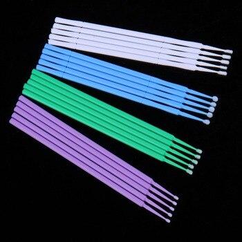 100 шт./лот прочный Micro одноразовые наращивания ресниц отдельных Аппликаторы тушь кисть для Для женщин ресниц клей очистки Стик 1