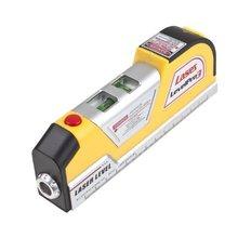 Imc горячей Generic LV02 лазерный уровень горизонта Вертикальная мера Клейкие ленты 8FT aligner многоцелевой правитель желтый