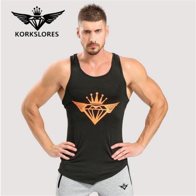Top homens Tanque de Fitness Musculação Tanques Tops Homens Musculação  Undershirt Roupas de academia de Treino bc6699929b7