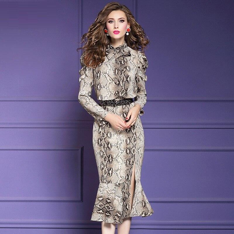 b0f55971999 Grande Taille 2019 Fête Bureau La Femme Robe De Printemps Kaki Moulantes T  Paquet Femmes Vintage ...