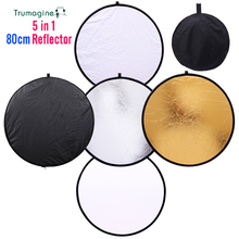 TRUMAGINE 80cm 5 in 1 Multi Portable Collapsible Light Round Photography/Photo light Reflector for Studio fotografia reflector