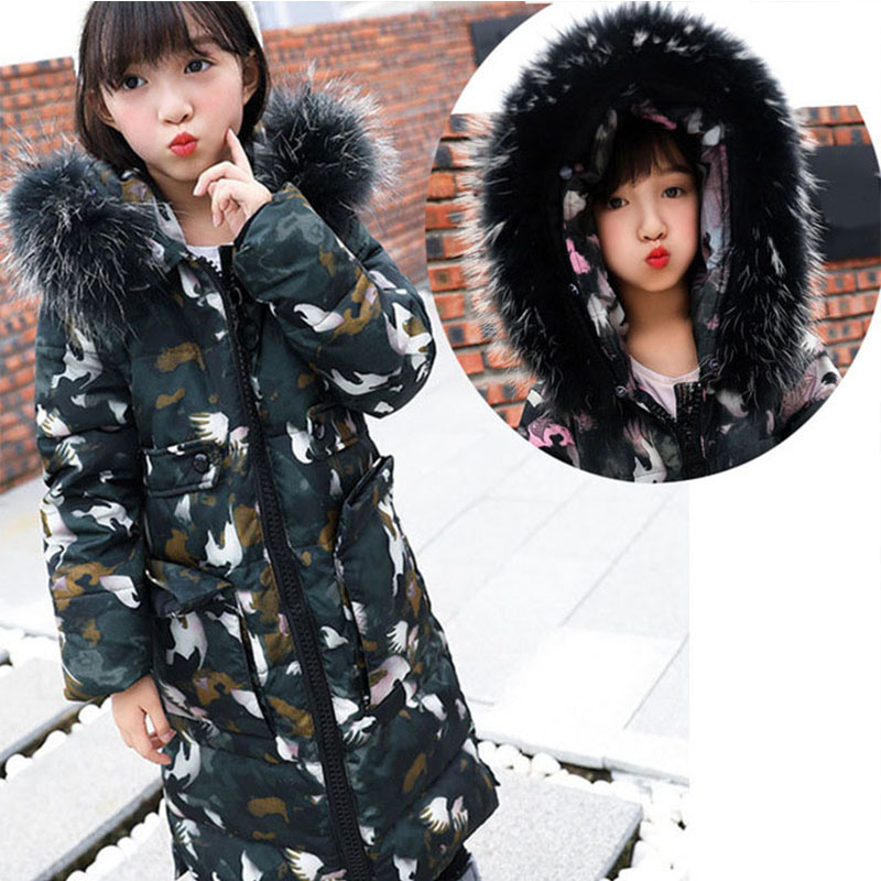 jacket for girls teenagers red blue green white green camouflage little girls down jacket duck down children winter clothing