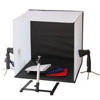 Portable 50 x 50 x 50 cm Camera Photo Studio Box Light Lighting cubeTent Kit with Tripod Four Backdrop