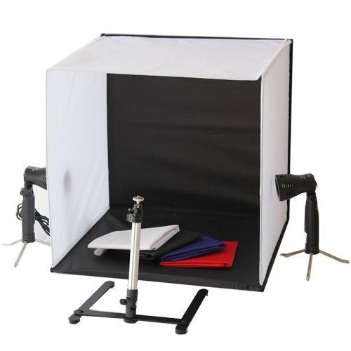 Portable 50x50x50 cm caméra Photo Studio boîte d'éclairage Kit de lumière avec trépied quatre toile de fond