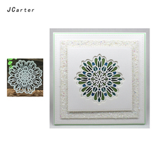 JCarter Circle Mesh Lace Frame Cutting Dies for Scrapbooking DIY Album Embossing Folder Cards Photo Template Background Stencil