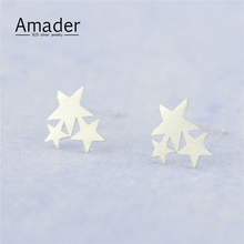 925 Sterling Silver Star Earring Women Ear Stu Ear Stud Earrings Aliexpress Dropship wholesale jewelry
