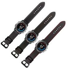TJP 26mm Black Carbon Fiber Watchband Watch Strap Replace Garmin Derek Fenix 3 Bracelet ,3 Style To Choice