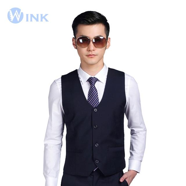 Los nuevos Hombres de Moda Traje de Chaleco Ocasional Tuxedo Custom Fit Boda BridegroonSuperior Trajes Blazer Negocios Traje Formal Chaleco B016