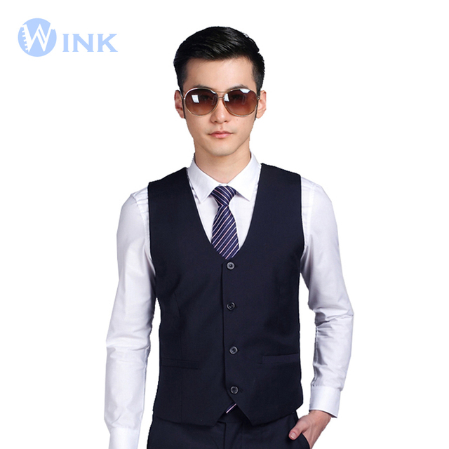 New Men Suit Vest Fashion Casual Custom Fit Tuxedo Wedding Formal Business BridegroonSuperior Suits Blazer Costume Vest B016
