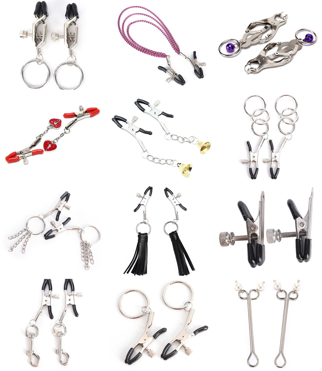 Adult Games Just Female Nipple Breast Clamps With Chain Clips Stimulator Flirt Breast Nipple Clips Bondage Bdsm Slave Women Sex Toys