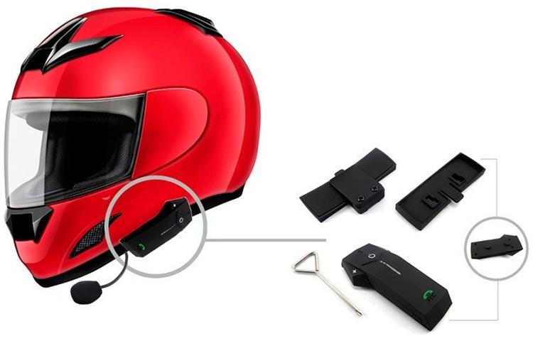 1PCS 1000m Motorbike Moto Helmet Bluetooth Intercom Stereo Headset Handsfree BT Interphone Earphones with NFC FM+Remote Control  (11)