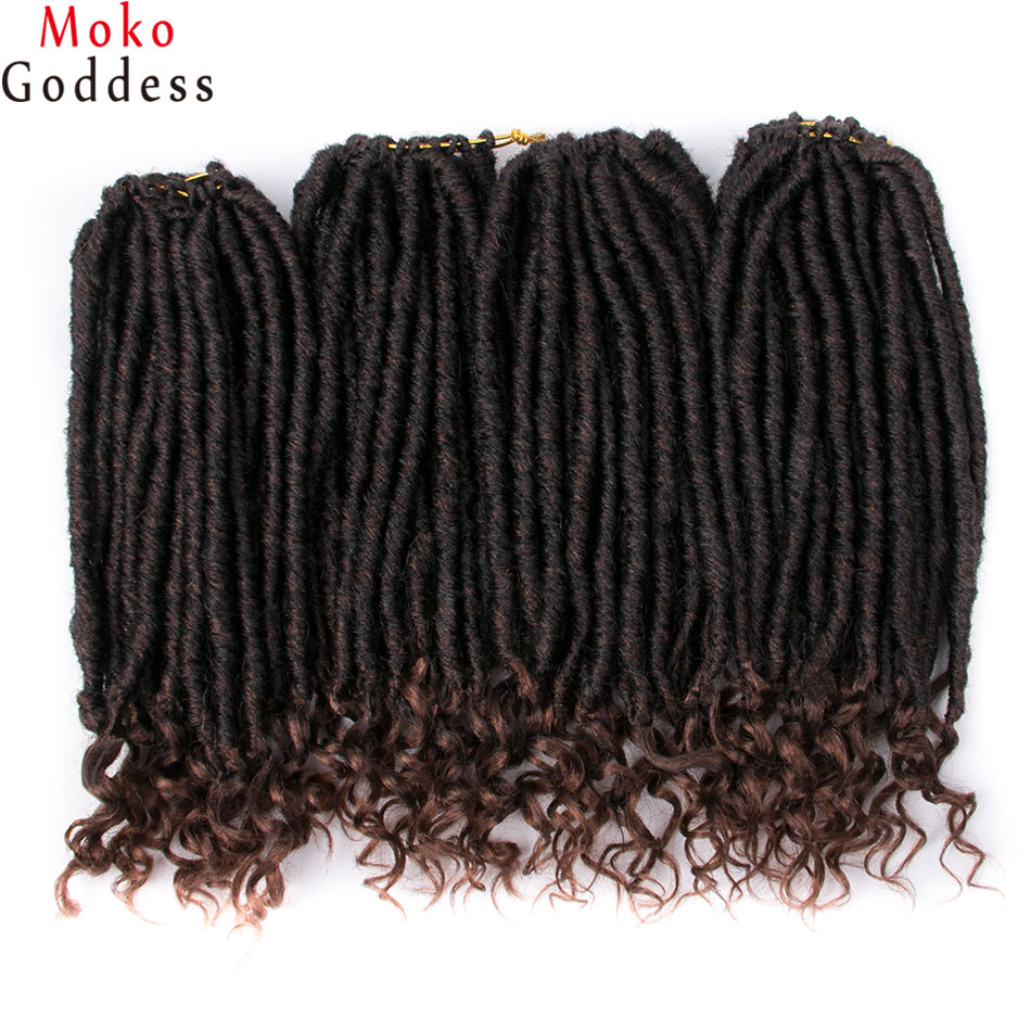 Braiding Hair Hair-Extensions Synthetic-Hair Crochet Faux Locs Goddess Ombre