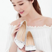 Newest Style White Pointed Toe Wedding Shoes High Stiletto Heel 9cm Bridal Evening Party Prom Dancing Bridesmaid Dress Shoe