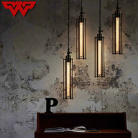 WOOTOP Creative Iron Retro Flute Chandelier Loft Industrial Style Cafe leisure club restaurant chandelier